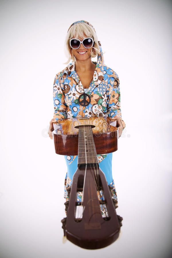 Download Hippie style stock photo. Image of blonde, full, guitar - 13006910