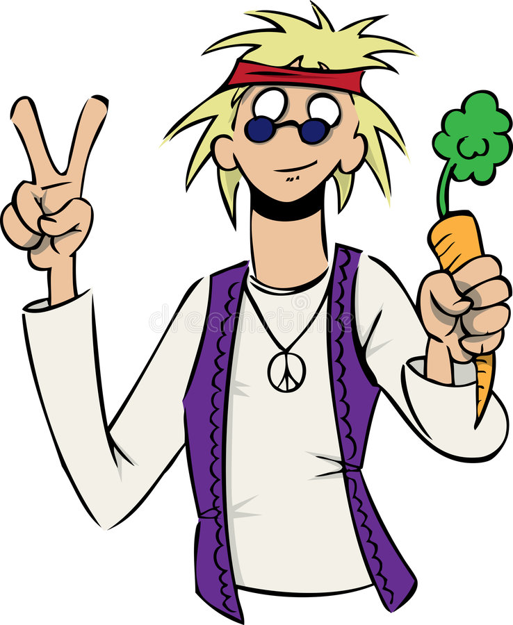 Download Hippie Takes On Healthy Food Stock Vector - Image: 9006439