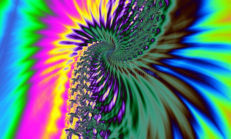 Hippie Tyedye Fractal-Auszugs-Hintergrund stock abbildung