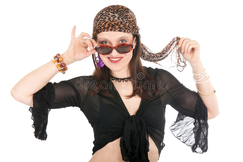 Hippie woman portrait royalty free stock photos