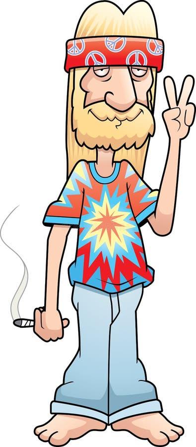 hippiefredtecken stock illustrationer