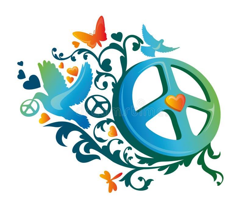 Hippiefriedenssymbol lizenzfreie abbildung