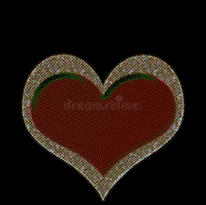 Hippiehjärtaförälskelse arkivfoton