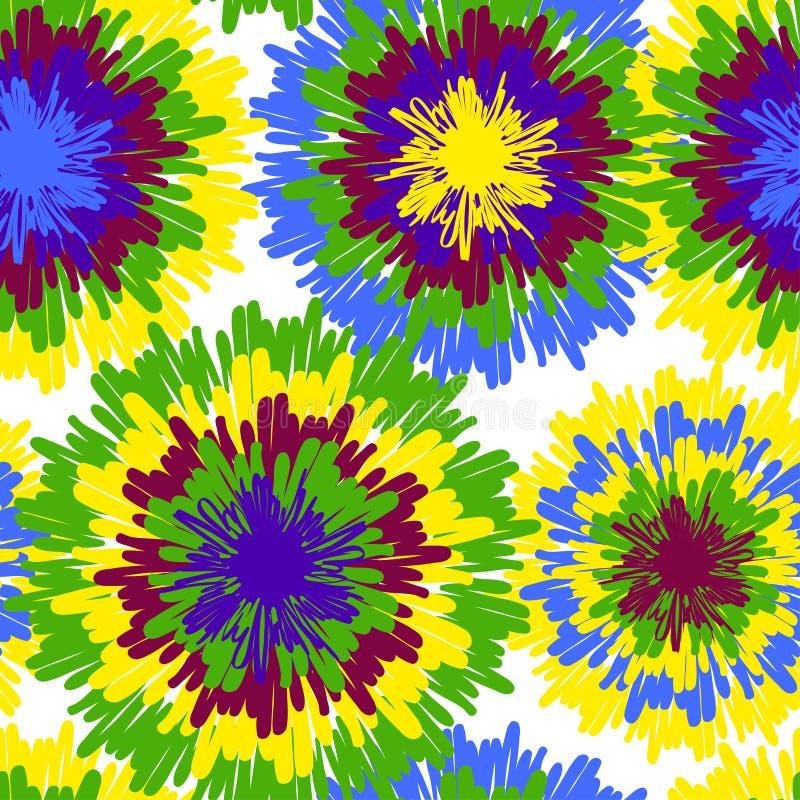 Hippiemuster mit hellen Tropfen stock abbildung