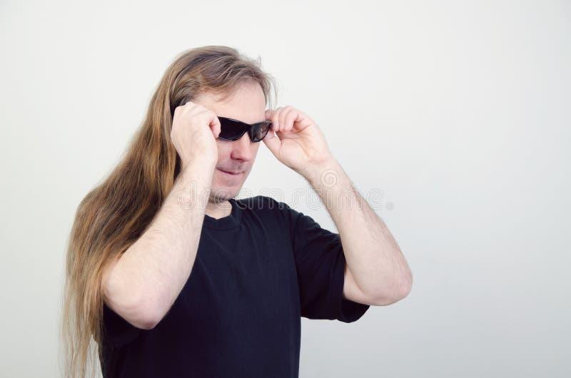 Hippies avec de longs cheveux image stock