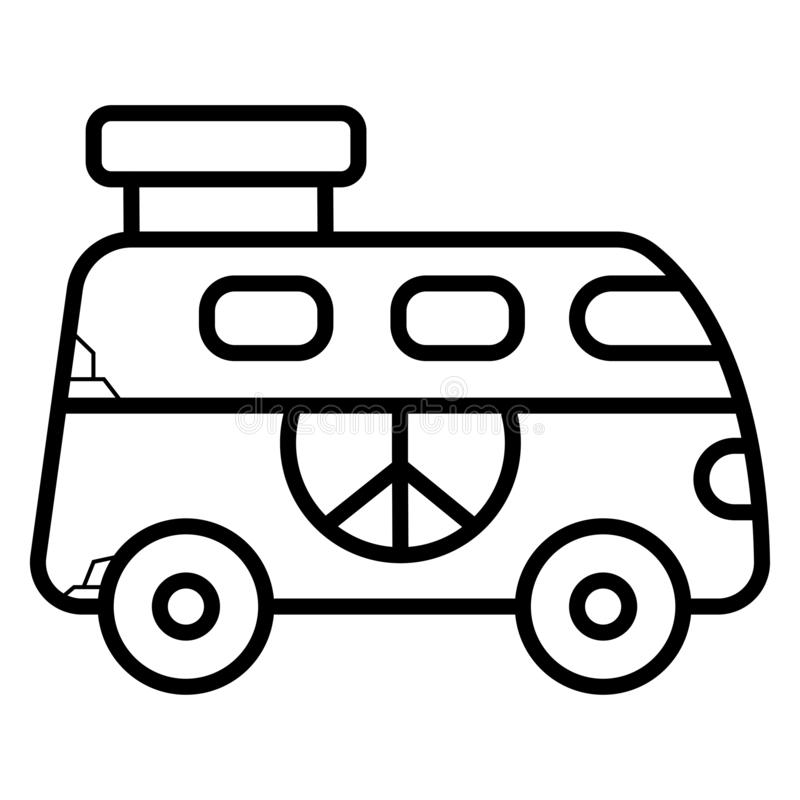 Hippiestilsymbol royaltyfri illustrationer