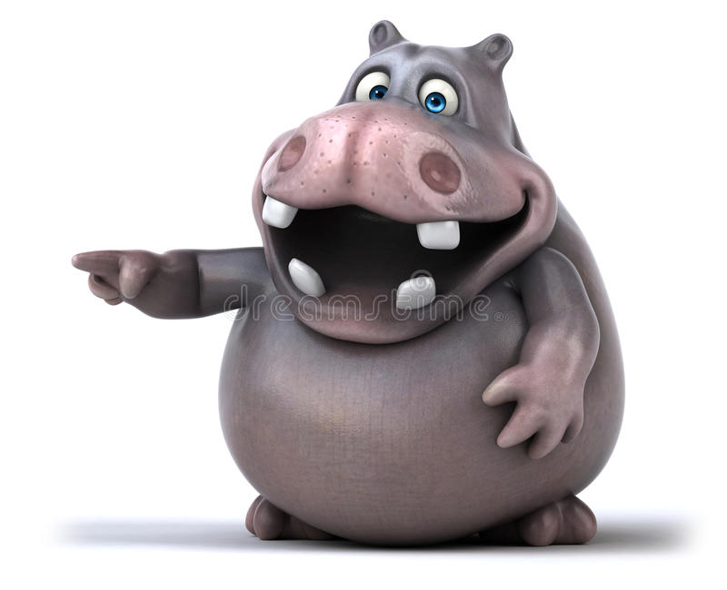 Hippo διασκέδασης διανυσματική απεικόνιση