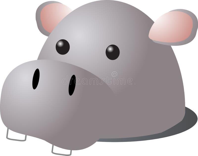 hippo κινούμενων σχεδίων ελεύθερη απεικόνιση δικαιώματος