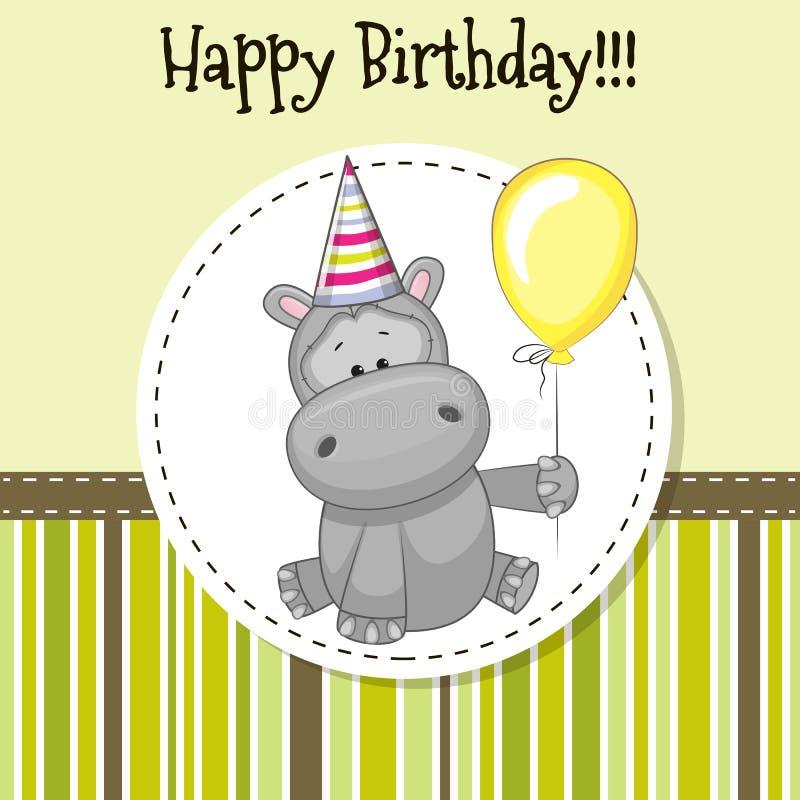 Hippo με το μπαλόνι ελεύθερη απεικόνιση δικαιώματος
