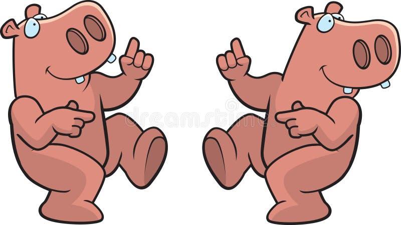 hippo χορού διανυσματική απεικόνιση