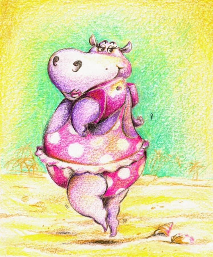 hippo διανυσματική απεικόνιση