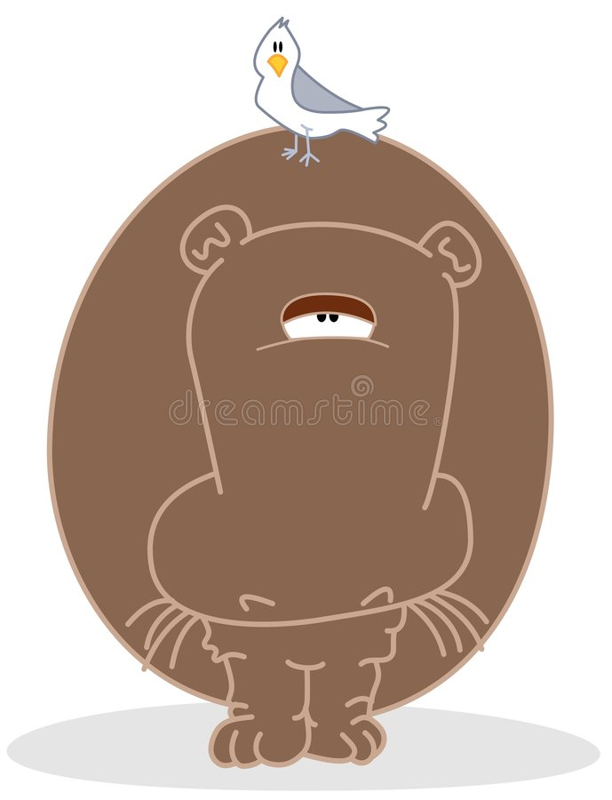 Download Hippo stock vector. Image of caricature, bird, black, clipart - 3436051