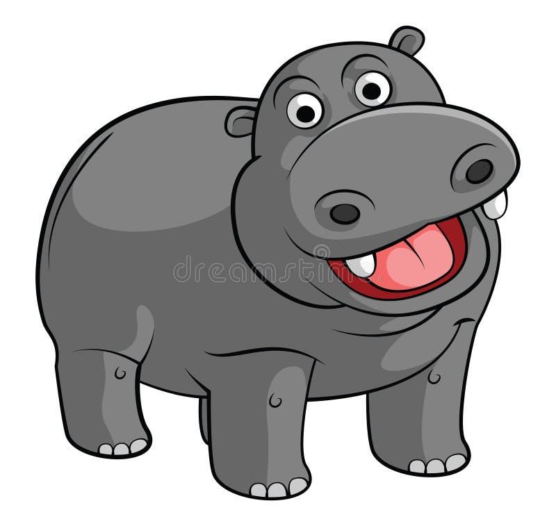 hippo ilustração royalty free