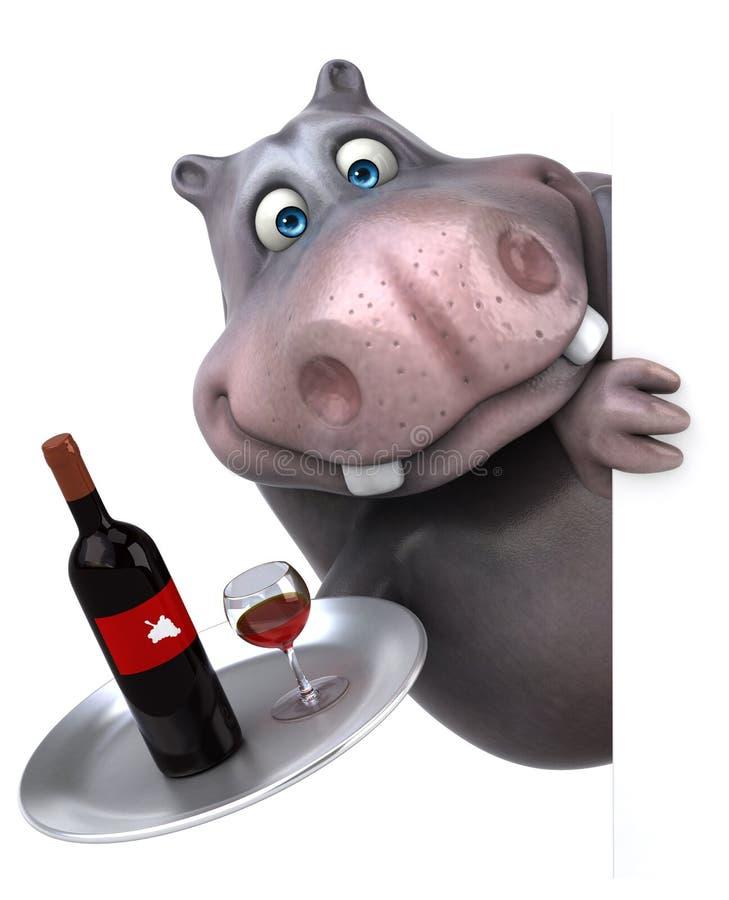hippo stock de ilustración