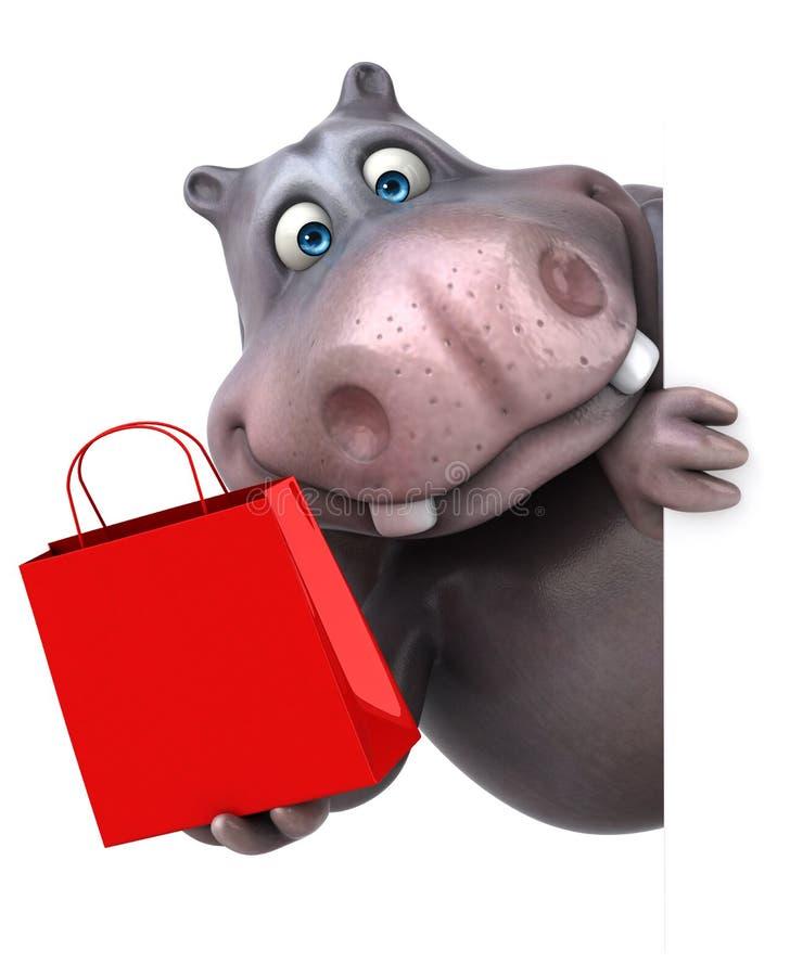 hippo ilustración del vector