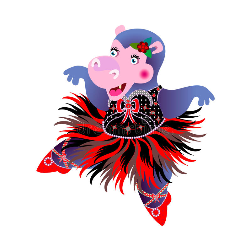Hippo Ballerina απεικόνιση αποθεμάτων