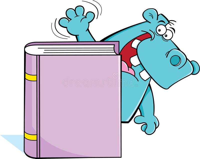 Hippo Behind A Book Stock Photos
