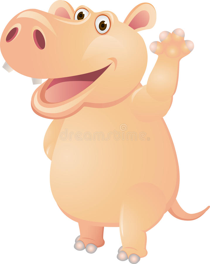 Download Hippo cartoon stock vector. Image of touching, hippo - 23390229