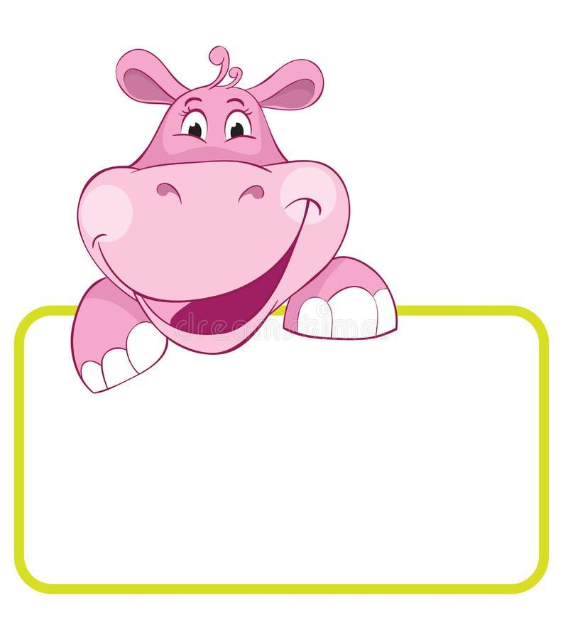 Hippo. De dierlijke banner van de baby stock illustratie