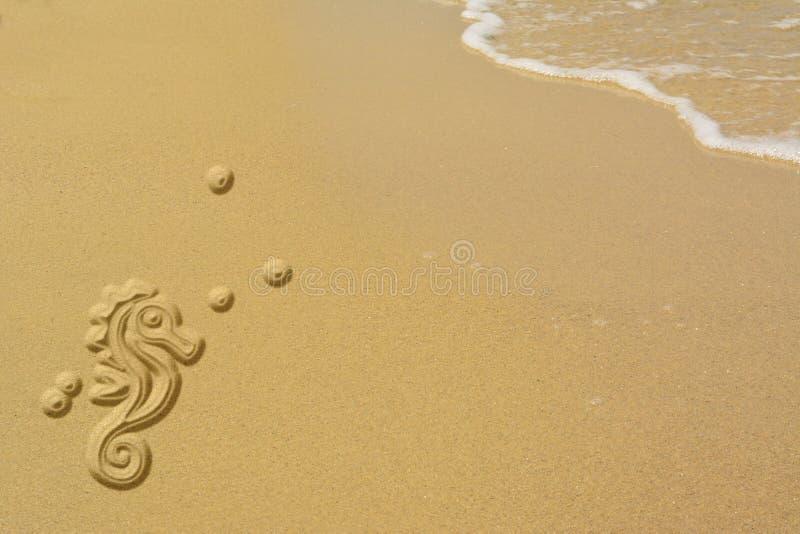Hippocampe de sable Bannière de Wlcome image stock