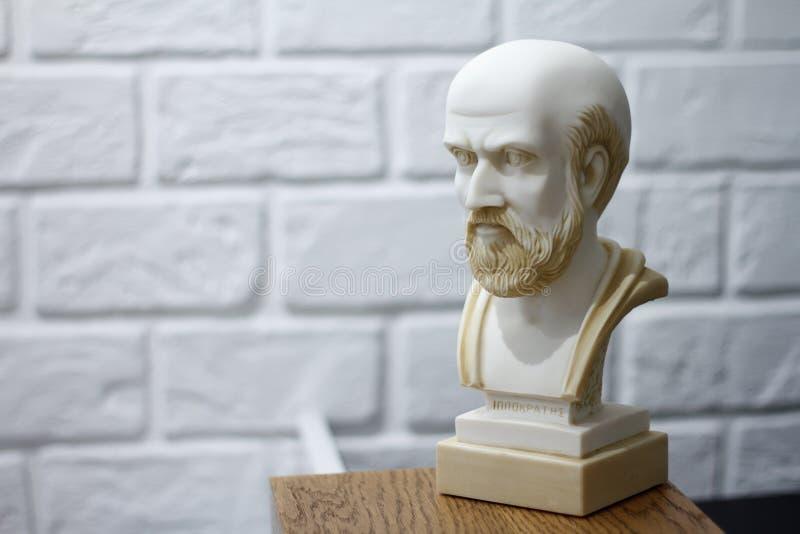 Hippocrates 460-380 b C e Starożytnego Grka lekarz, tradycjonalnie dotyczący jako ojciec medycyna zdjęcie stock