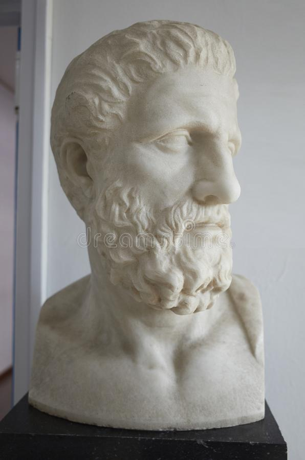 Hippocrates statue at Athens Greece royalty free stock photo