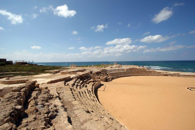 Hippodrome in Caesarea stock photos