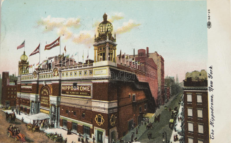Hippodrome theater in New York royalty free stock image