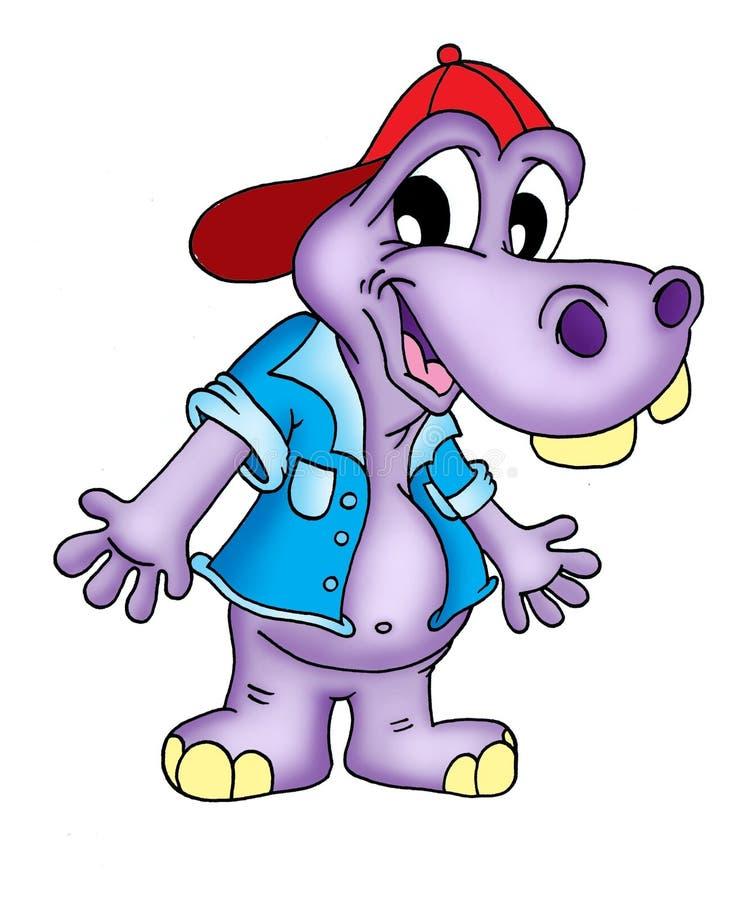 Hippopotame dans le T-shirt illustration stock