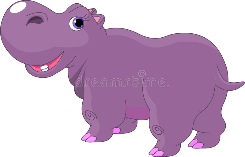 Hippopotame de dessin animé illustration stock