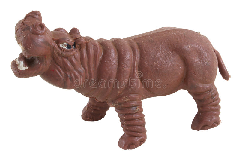 Hippopotame de jouet image libre de droits