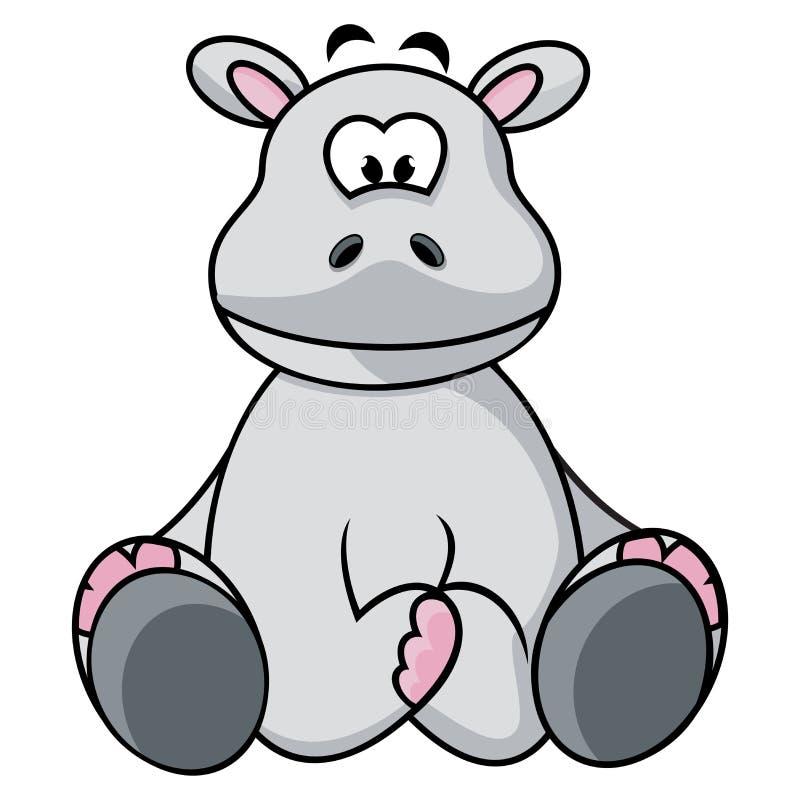 Hippopotame Mignon Images libres de droits