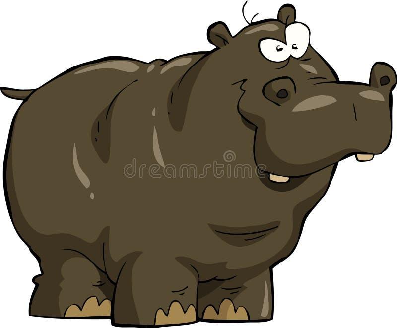 Hippopotamus ελεύθερη απεικόνιση δικαιώματος