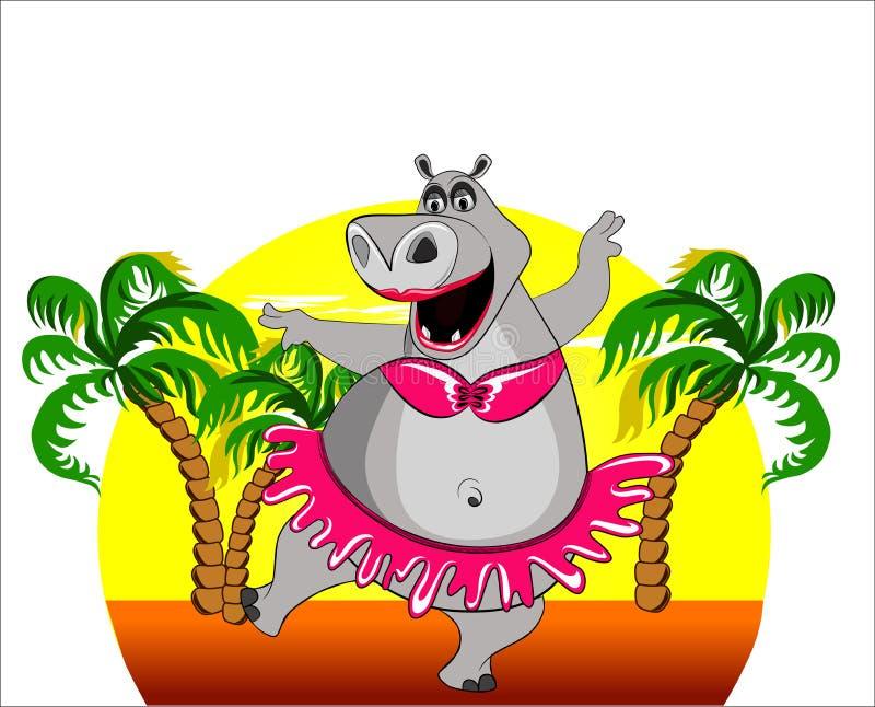hippopotamus танцы бесплатная иллюстрация
