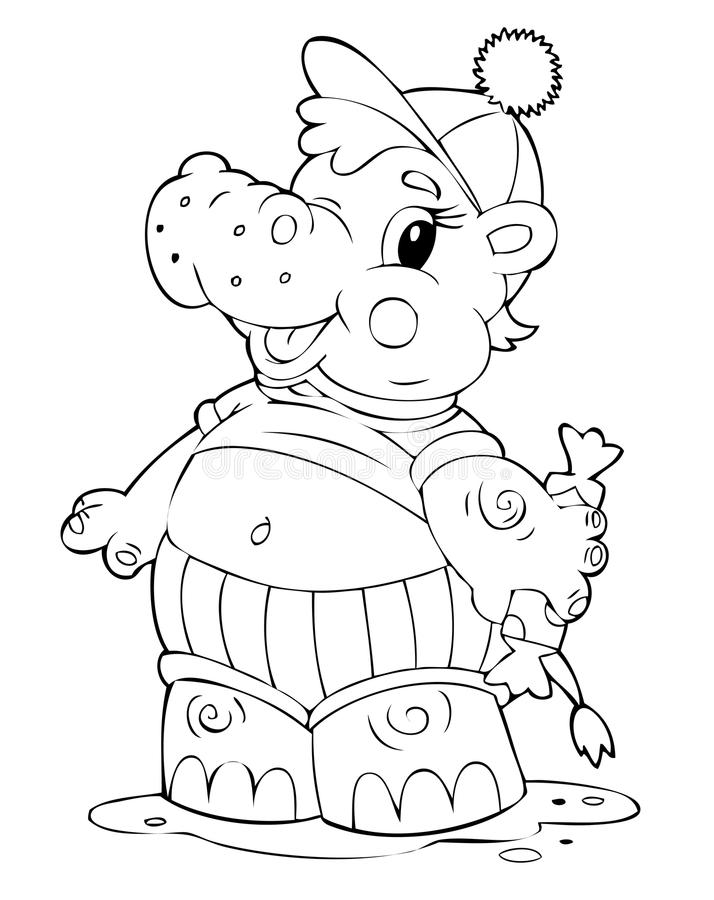 Hippopotamus illustration libre de droits