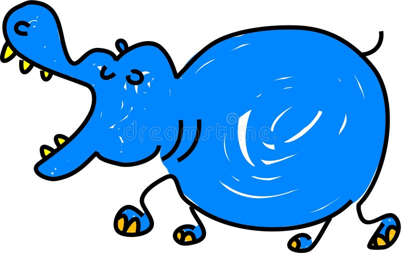 Hippopotamus ilustração royalty free