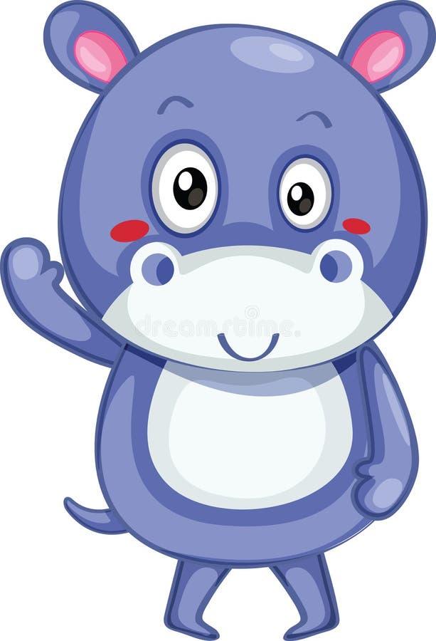 Hippopotamus bonito ilustração do vetor