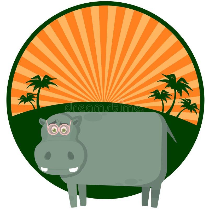 Hippopotamus d'une manière amusante illustration libre de droits