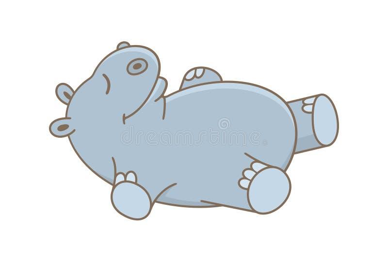 Hippopotamus de ch?ri illustration de vecteur