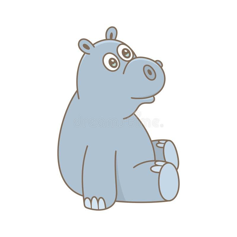 Hippopotamus do beb? ilustração royalty free