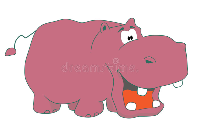 Hippopotamus engraçado ilustração do vetor