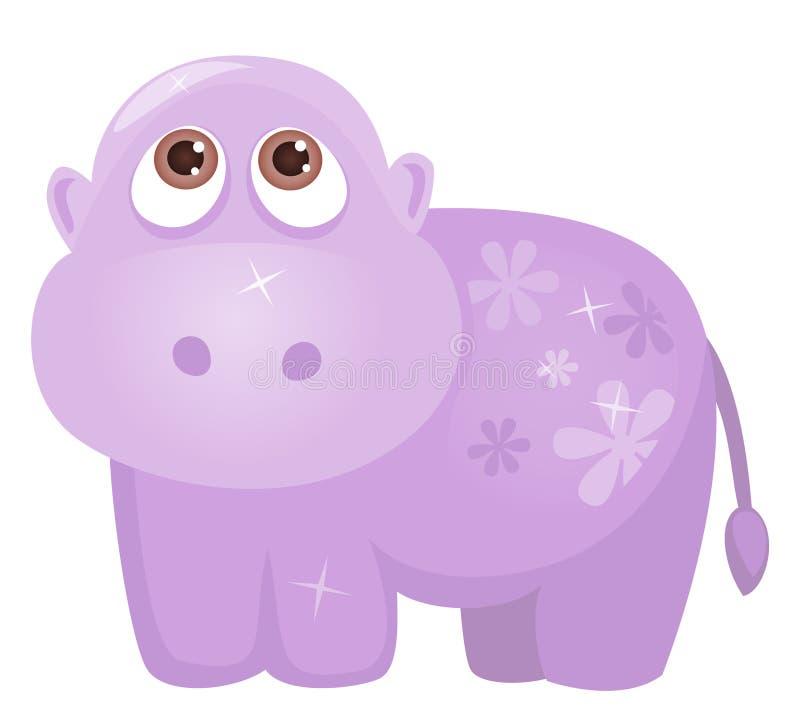 Hippopotamus mignon illustration de vecteur