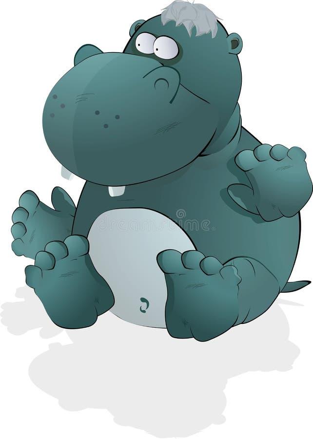 Hippopotamus pequeno do brinquedo ilustração royalty free