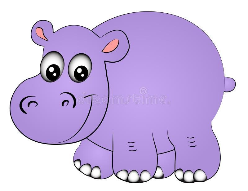 Hippopotamus un de rhinocéros isolé illustration libre de droits