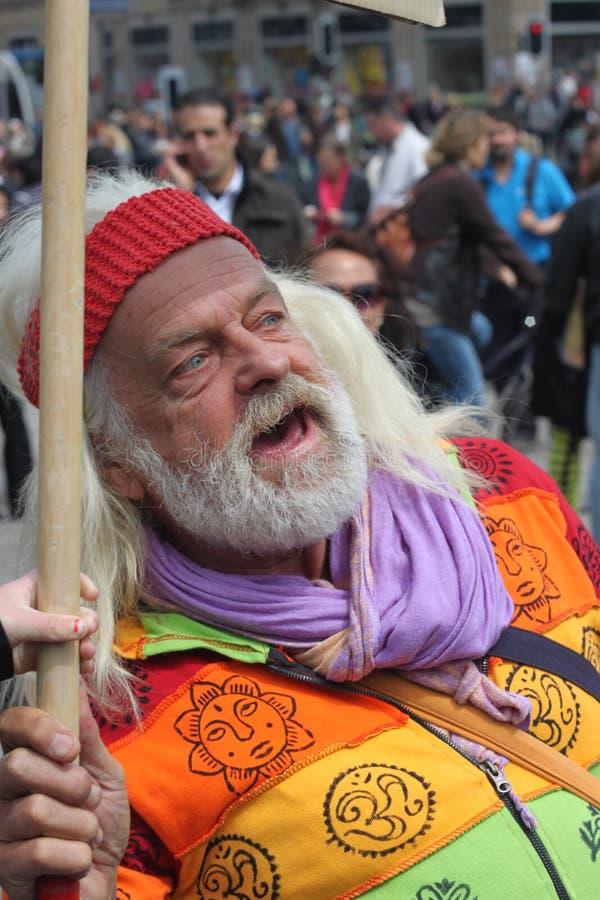 Hippy is niet gelukkig royalty-vrije stock afbeeldingen