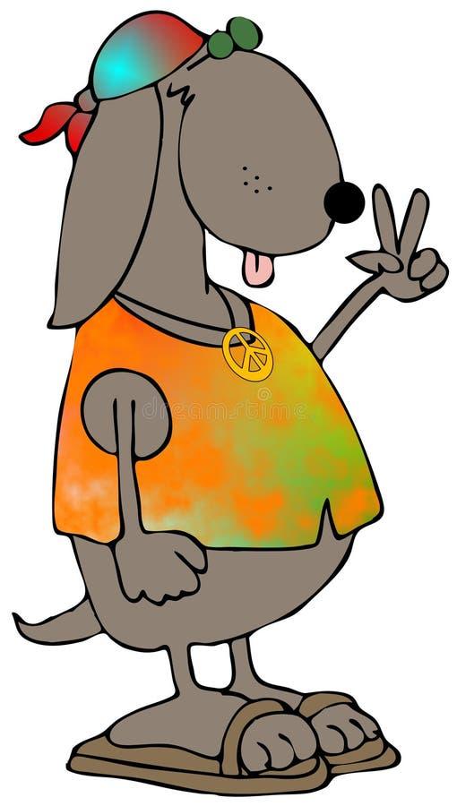 hippy psa royalty ilustracja