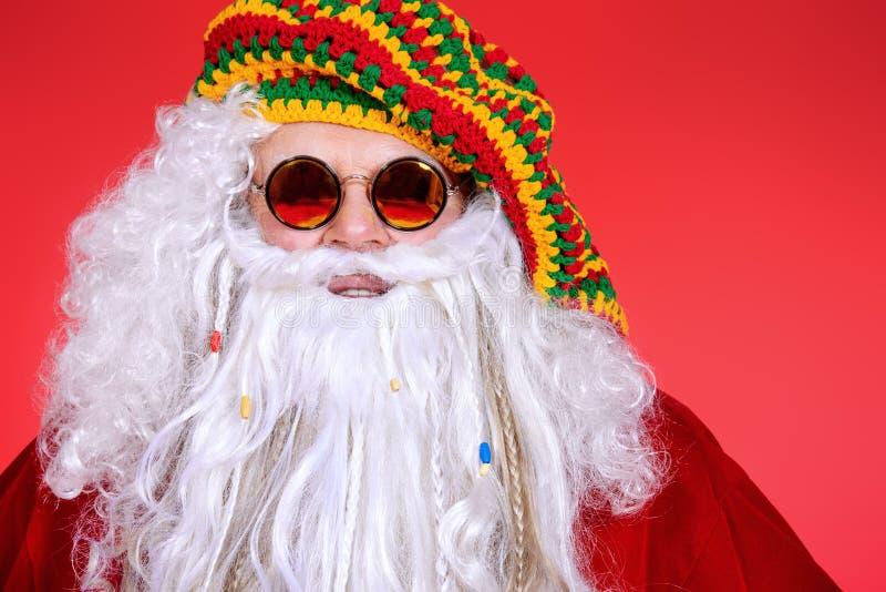Hippy Santa foto de stock
