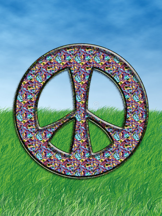 hippy, symbol royalty ilustracja