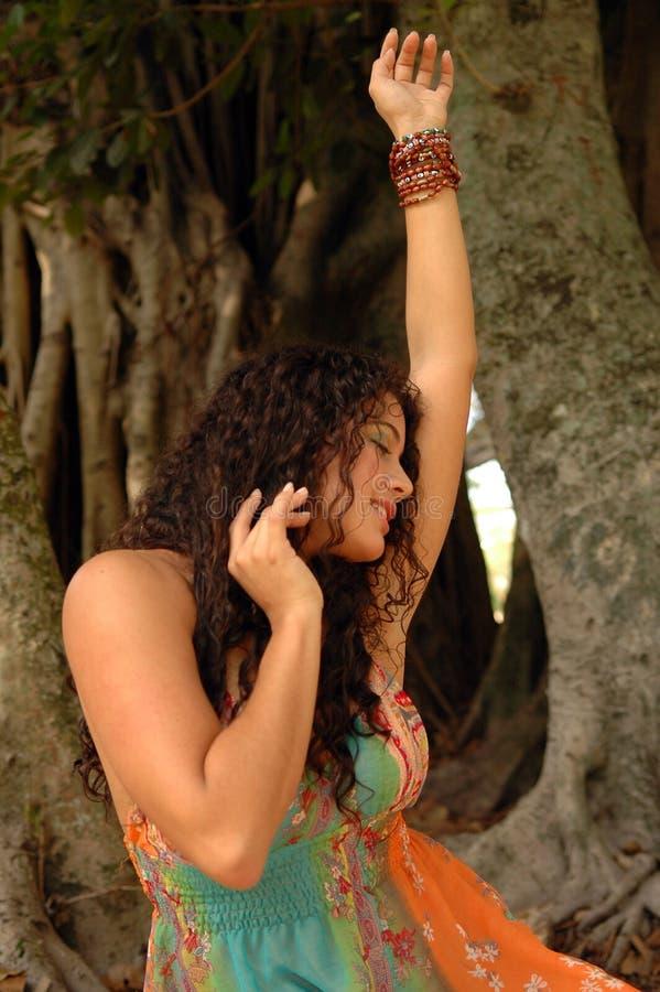 hippy tańczącego zdjęcie royalty free
