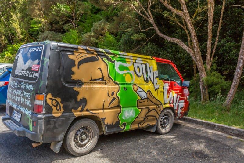 Hippy Van Bob Marley immagini stock